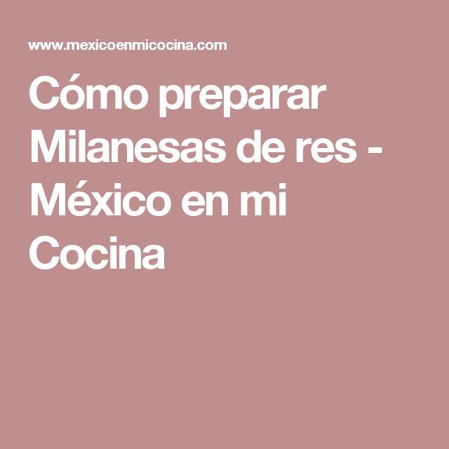 Cómo preparar Milanesas de res - México en mi Cocina