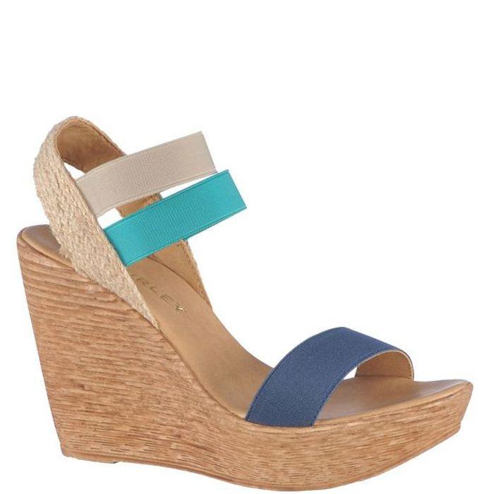 Sandale cu platforma,de dama marca Thurley Fete: textil Interior: piele naturala + textil Talpa: sintetic Platforma fata: 3,5 cm Platforma spate: 11,5 cm