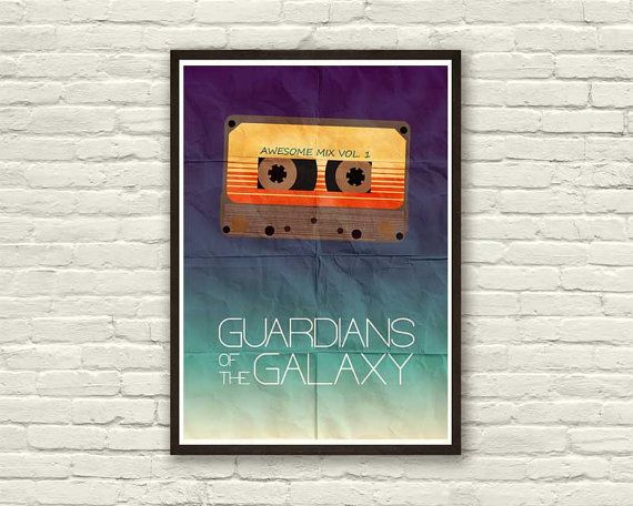 GUARDIANS of the GALAXY Minimalistic Poster  Movie by Inkshadow