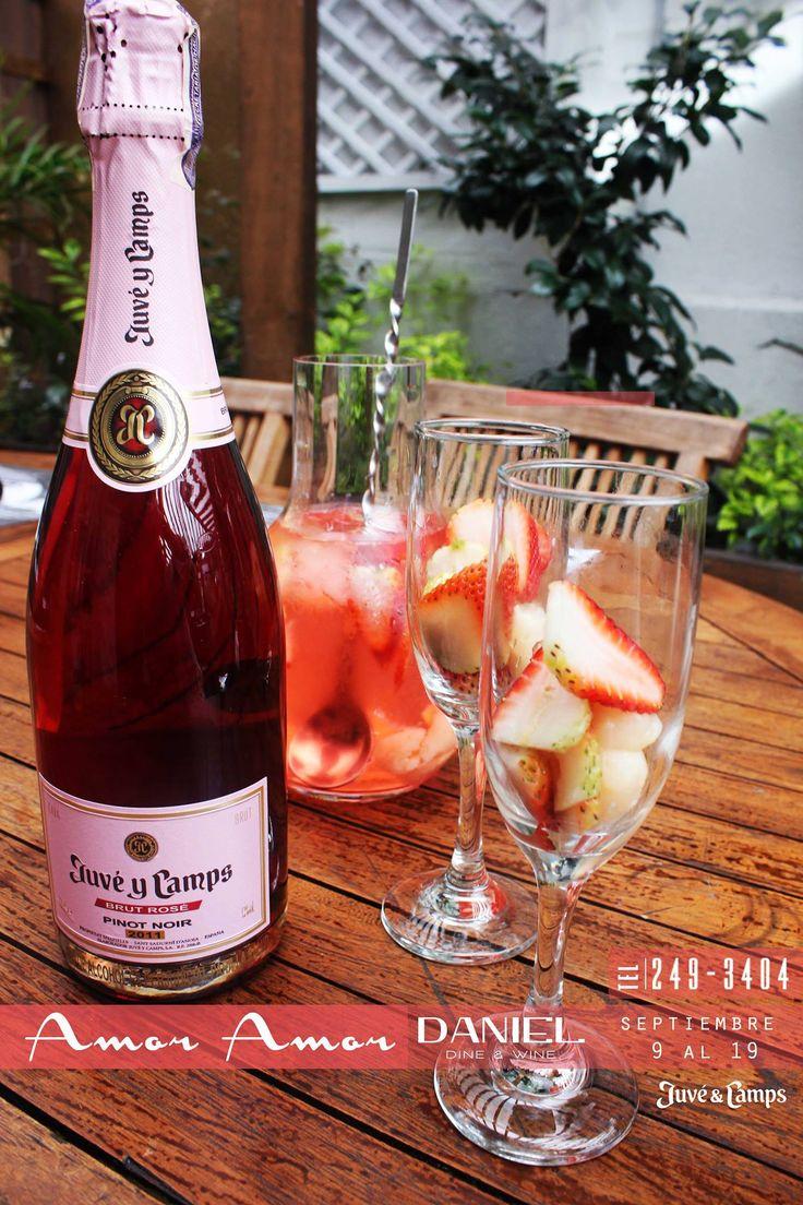 Amor Amor | Para salir de la Rutina nada mejor que nuestra Jarra de Sangria #DWW  1 botella de Mumm Espumante Rose 1/2 oz de agua de rosas 1 oz de pama Fresas laminadas Lychee picadas 2 oz almibar lychee 2 oz de Soho Licor Lychee  Nada mejor que celebrar #AmoryAmistad en #SuTerceraCasa!!! Reservas: 2493404 | Calle 73 # 9-70 https://www.facebook.com/events/546660078815899/