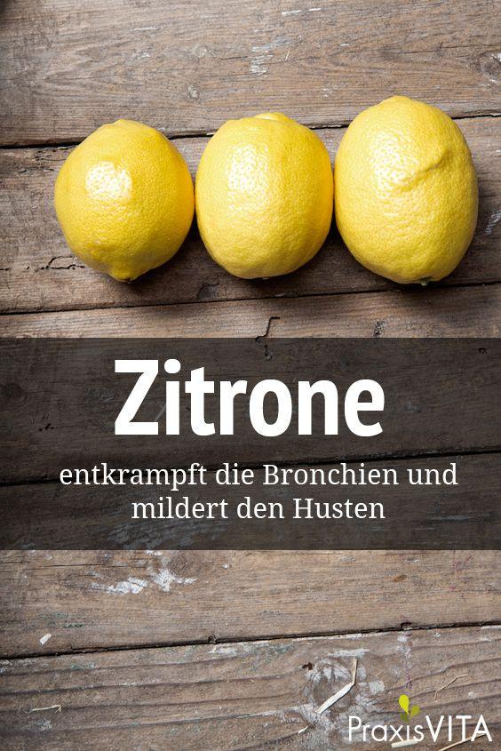 Zitronenwickel entkrampft die BronchienPraxisVITA