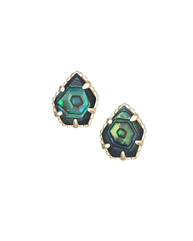 Tessa Stud Earrings in Abalone Shell - Kendra Scott Jewelry