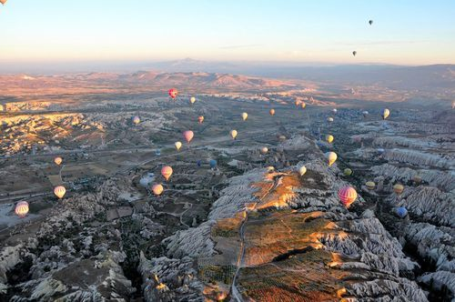 Cappadocia - TURKEY  Cappadocia is a historical region in Central Anatolia, largely in Nevşehir Province