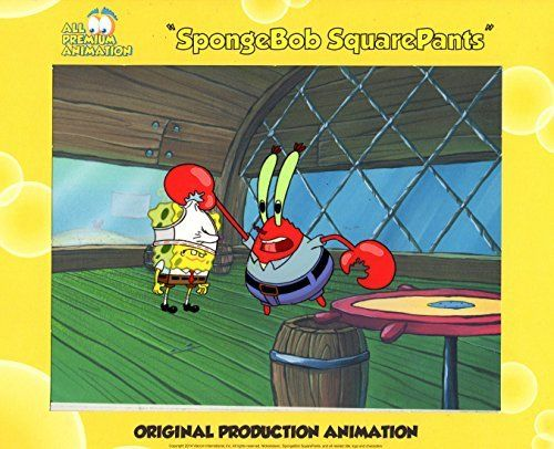 Hand Painted SpongeBob SquarePants Production Cel from episode HOOKY#4926 Free Shipping Cont USA @ niftywarehouse.com #NiftyWarehouse #Spongebob #SpongebobSquarepants #Cartoon #TV #Show
