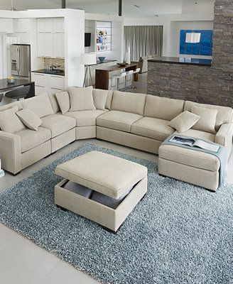 Radley Fabric Sectional Sofa Living Room Furniture Collection - Furniture - Macy's