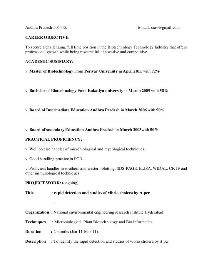 Resume Format For Msc Zoology Sample Resume Templates Free Resume Samples Resume Template