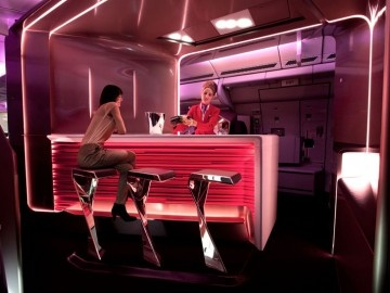 Virgin Atlantic Airways: new upper class bar and cabin