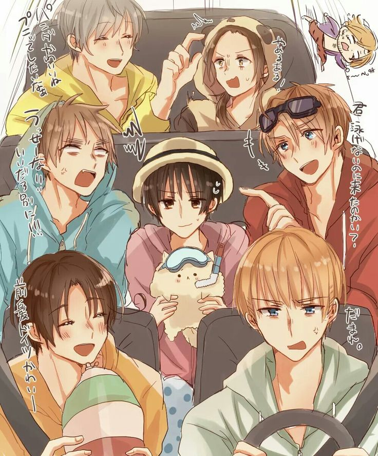 Hetalia (*´∇`)ノ <<< Hahaha England, look at you and that cute lil hoodie you got on~ Where's your arm floaties?~