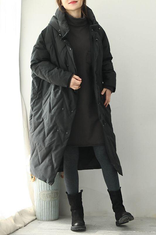 f6f4edc911 Women Korea Style Hoodie Casual Long Down Coat Winter Outfits Q1970 ...