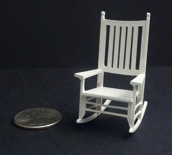 rocking chairs rocking chair rocker 124 scale miniature rocking mini ...