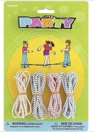 4 Party Favors  Chinese Jump Ropes Assorted colors String game cat's cradle Lot #UniqueIndustries