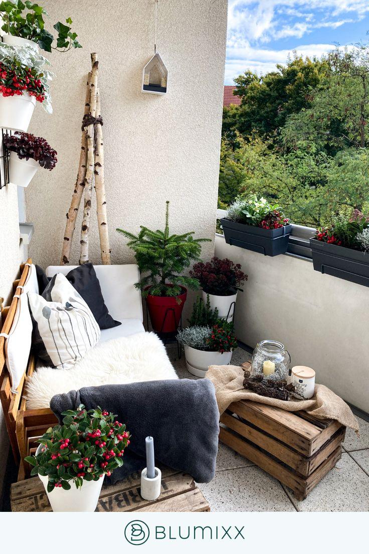 So gestaltest du deinen Winterbalkon   Winter balkon, Balkon ...