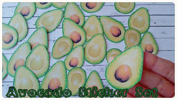 SALE 50xAvocado stickersPlanner StickersVeggie