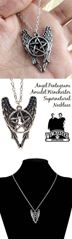 Best 25 supernatural necklace ideas on pinterest supernatural angel pentagram amulet winchester supernatural necklace click the image to buy it now or tag aloadofball Images
