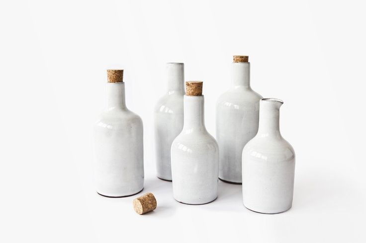 ceramic bottle Nina Rail #ceramics #white #simple #handmade #hnstly