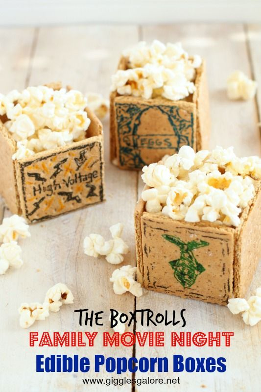 The Boxtrolls Movie Night and Edible Popcorn Boxes, an easy and fun way to make family time memorable! #boxtrollsfamilynite #pmedia #ad