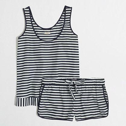 J Crew Factory sleeveless pajama set