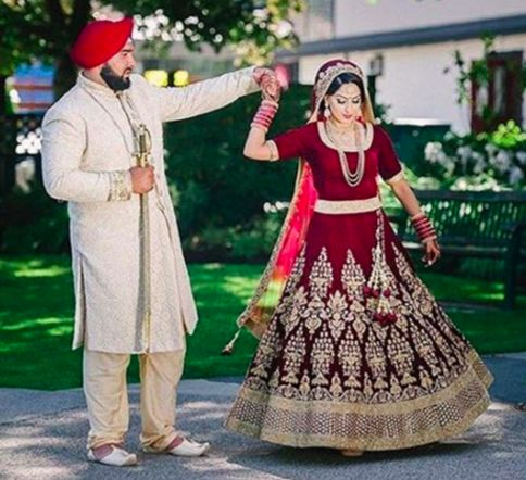 Here's a beautiful image captured of our clients on their wedding day. Congratulations to you both ❤️✨     #allthingsbridal #indianfashion #wedding #bride #style #fashion #designer #glamour