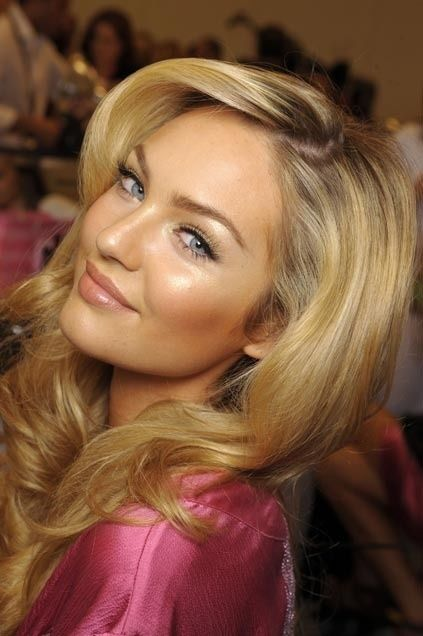 Golden wavy hair, blue eyes, glowing complexion... beautiful VS model inspiration