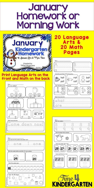 Math Homework For Preschoolers