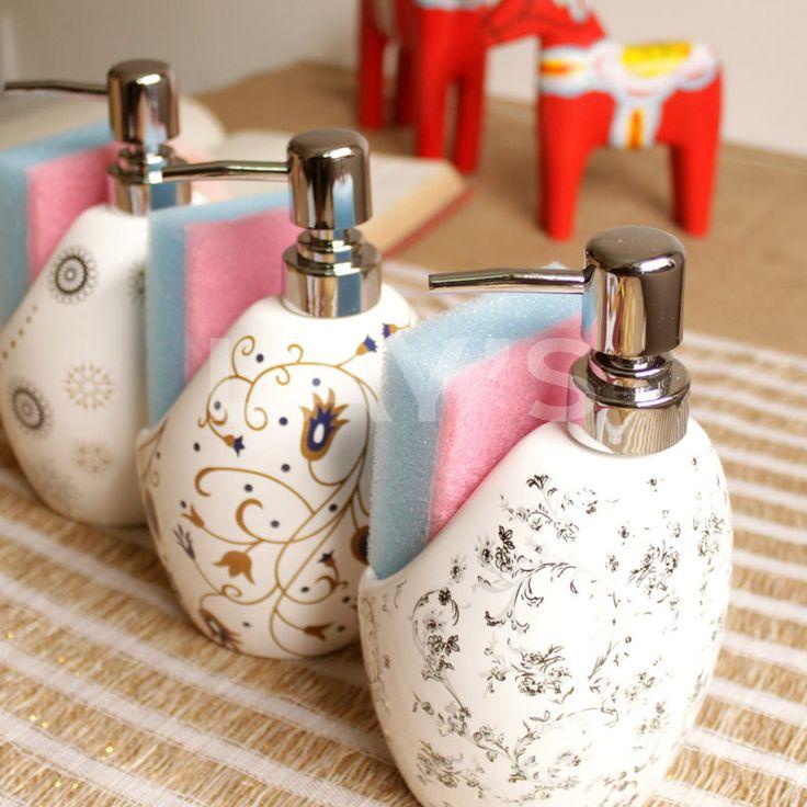 Творческие европейские высококачественные керамические ручной дезинфицирующее средство для рук бутылки тела мыла бутылки бутылки выжать бутылки лосьон бутылки