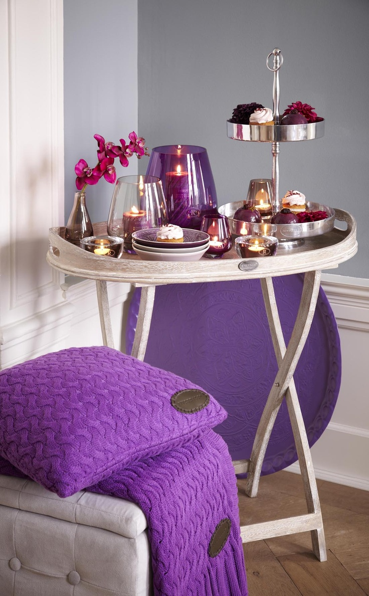 Butlertray riverdale pinterest deco kaarsen en paars - Deco van woonkamer eetkamer ...