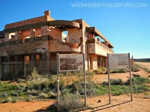 The ruins of Big Bell in the Murchison Gold Fields. A short-lived but once prosperous town.