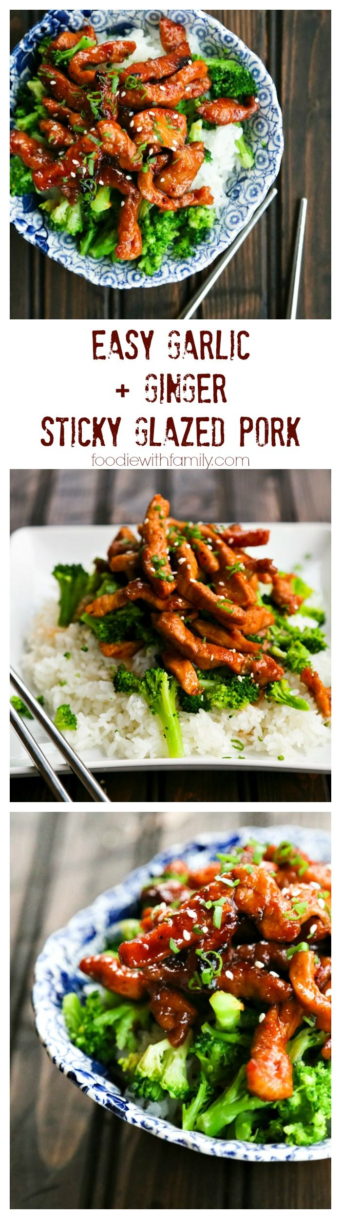 Easy Garlic and Ginger Sticky Glazed Pork Stir Fry