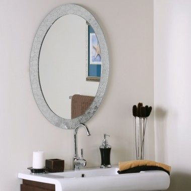 Decor Wonderland Frameless Crystal Wall Mirror - SSM5016-4