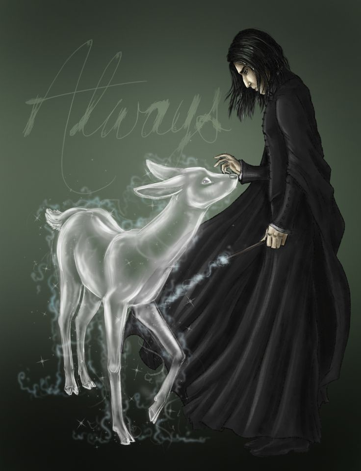"Fans accurately show Severus Snape's tragic story of his love for Lily with the significant quote of 'Always' and his patronus of the doe which was said to be Lily's patronus as well.  ""After all this time?"" ""Always"" said Snape."""