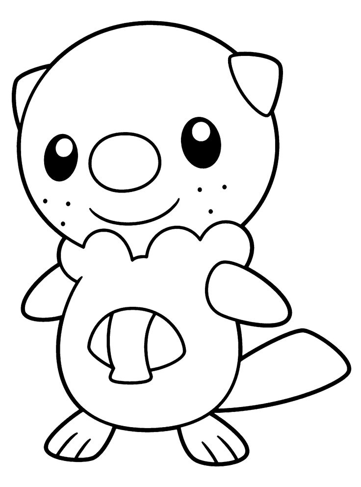 Pokemon Black And White Coloring Pages Of Oshawott