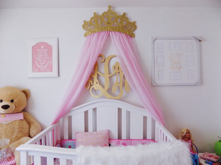 Glitter Gold Crown Canopy by WakeUpSweetPea in Etsy & 27 best Princess Crown Canopies images on Pinterest | Princess ...