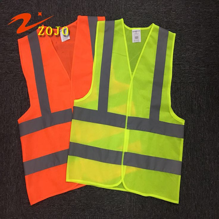 Famous Brand Zojo High Quality Reflective Vest Size 65*60cm Unisex Safety Clothing Night Working Chaleco Reflectante V002-3