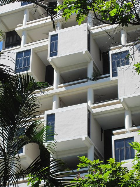 The Colonnade Condominiums by modernist architect Paul Rudolph