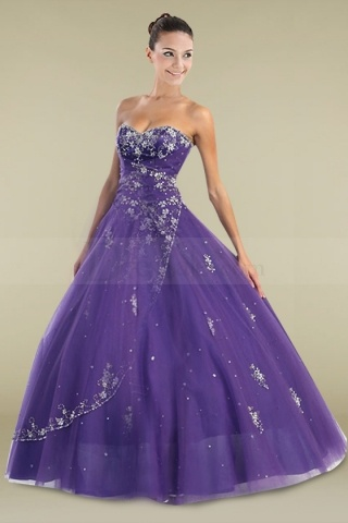 Regency Quinceanera Gown with Scattering Beaded Applique