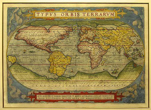 Map of the World,Ortelius, C.1572