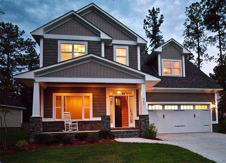 Best Floor Plans Images On Pinterest Architecture Master - Craftsman house plans elevation