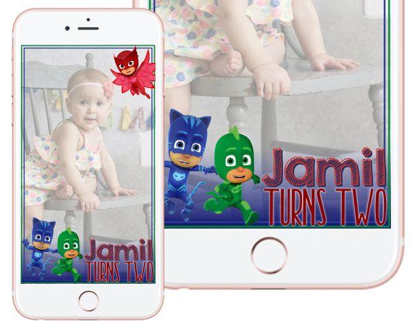 PJ Masks Birthday/ Shower Filter Custom Snapchat Filter by DesiPaperThings on Etsy https://www.etsy.com/listing/552054741/pj-masks-birthday-shower-filter-custom
