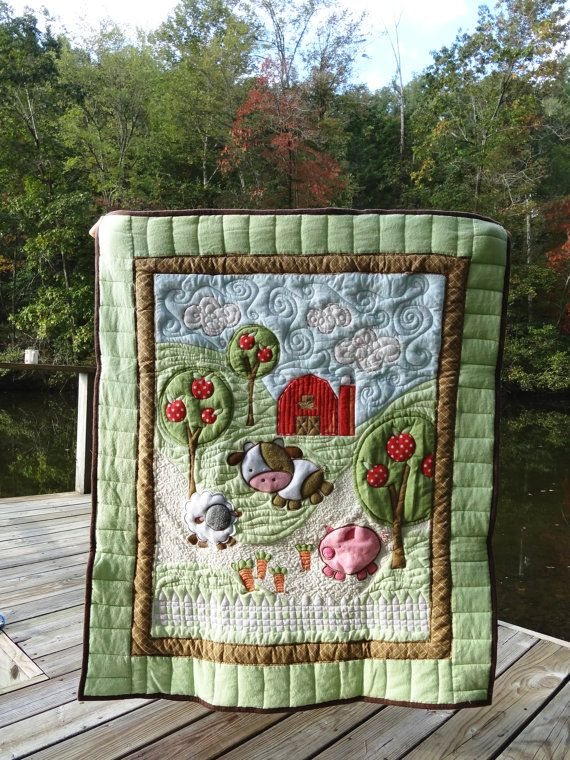 35 Best Farm Animal Baby Quilt Images On Pinterest Baby