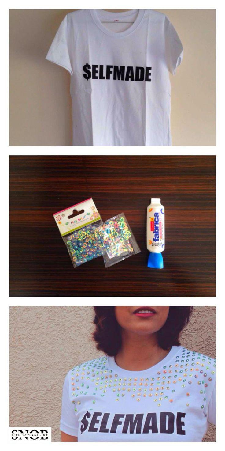 DIY Sequin T-Shirt | The Bangalore Snob
