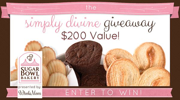 Enter Simply Divine Giveaway from Whole Mom! $200 of cookies, brownies, pastries,etc. Terrific Giveaway! I WANT TO WIN THIS! enter here http://woobox.com/u4yg2z/8rgz8d for your chance!  You know I entered!!!  Thanks, Michele :)