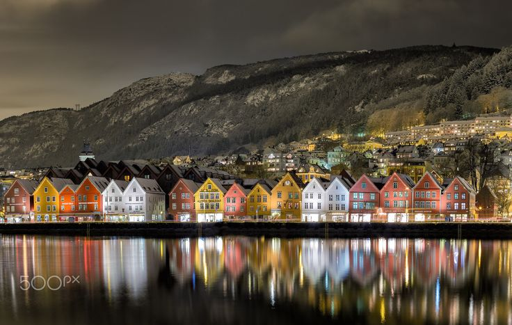 "Bergen Harbor View - Photo of ""Bryggen"" in Bergen, Norway."