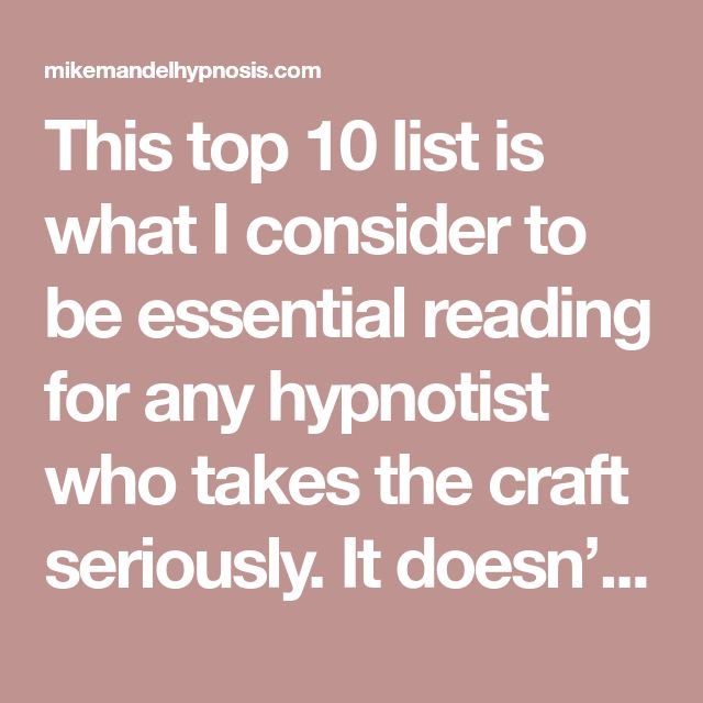 20 best art illustrations images on pinterest hypnotherapy book this top 10 list is what i consider to be essential reading for any hypnotist who takes the craft seriously it doesnt matter whether you are brand new to fandeluxe Choice Image