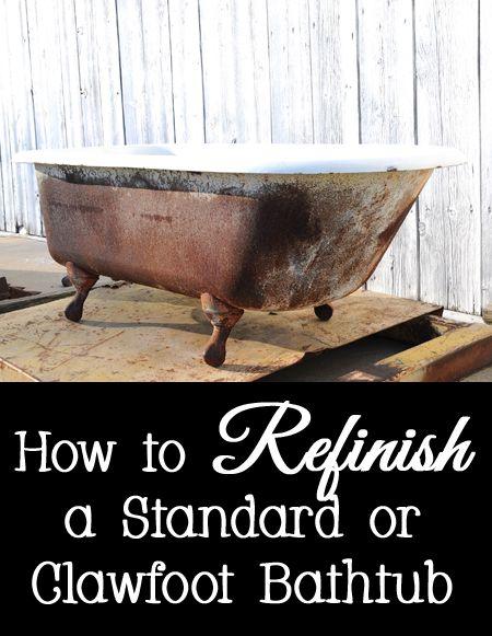 how to refinish a bathtub bathtubs painted bathtub and bathroom hacks. Black Bedroom Furniture Sets. Home Design Ideas