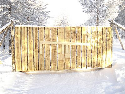 Find out whats beyond our magical glowing gates and get #mushing here at #HettaHuskies in #Finland!