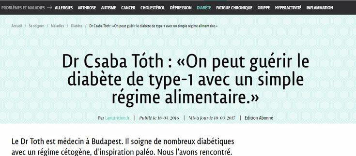 Dr Toth est médecin à Budapest. Il soigne de nombreux diabétiques avec un régime cétogène, d'inspiration paléo. Nous l'avons rencontré.