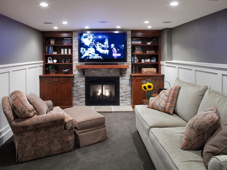 Heating Your Basement Living RoomsBasement FireplaceLiving Room InteriorFireplace IdeasLiving