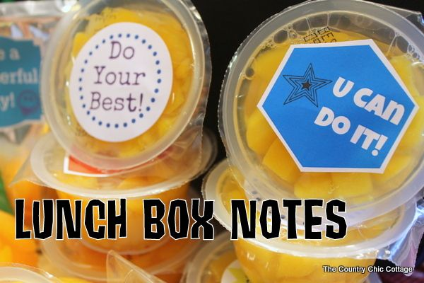 lunch box notes for back to schoolDiy Home Decor, Decor Crafts, Lunch Boxes, Boxes Note, Lunches Boxes, Country Chic Cottage, Cottages Diy, Chic Cottages, Lunch Box Notes