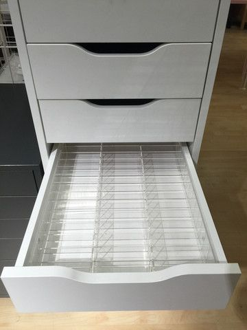 Acrylic Makeup Organizer ALEX 42 compartment drawer divider