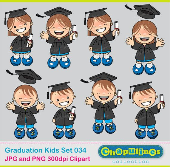 Digital Clipart Graduation Kids 034 by ChapulinesCollection, $5.00